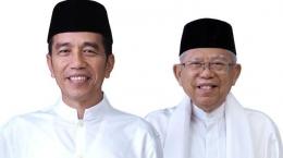 Joko Widodo dan KH Ma'ruf Amin/TribunNews.com