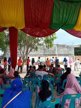 Pertandingan Peserta Tingkat SMP dari Bangku Penonton (Foto: Dokumen Pribadi)