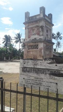 Sisa reruntuhan masjid pecinan/dokpri