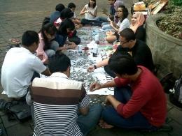 Deskripsi : Coin Collecting Day di Taman Menteng I Sumber Foto : dokpri