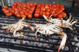 Kepiting dengan bumbu tomat panggang seperti apa ya rasanya?(dokpri)