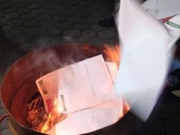Ribuan Surat Suara Pemilu 2019 dimusnahkan KPU Bantaeng (16/04/19).