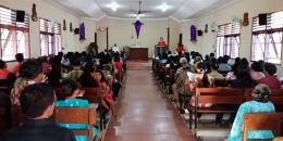 Suasana Perayaan Paskah Di GKT Santo Franciscus Asisi Dawarbandong (Dokpri)