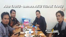 Ketua KPAI Dr.Susanto MA sedang mencicipi Makanan Khas Bangka di Pangkalpinang