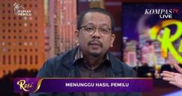 M Qodari Direktur Indo Barometer I Gambar : Tangkapan Layar KompasTV