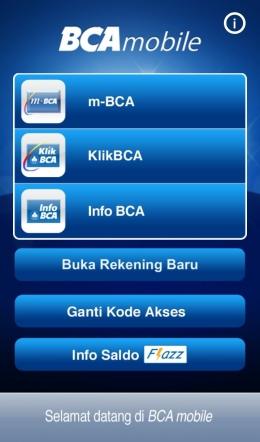 Tampilan BCA Mobile, generasi simpel mulai di sini kawan(dokpri)