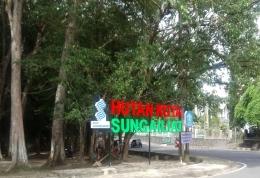 Hutan Kota Sungailiat di jalan A. Yani Sungailiat, kabupaten Bangka (dokpri)