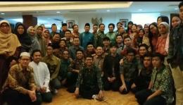 Bapak Dubes bersama seluruh masyarakat dan mahasiswa Indonesia, di Wisma KBRI-Beijing. (Firman/BUCT)