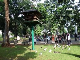 bisa berteman burung di Taman Suropati (dok.jejakpiknik.com)