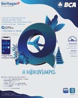BCA luncurkan fitur di aplikasi mobile QRku dan Sakuku. (Beritagar.id)