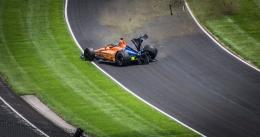 Fernando Alonso saat mengalami kecelakaan di sesi latihan resmi Indy 500 - fox59.com