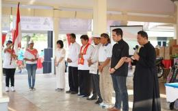 Doa bersama lintas iman untuk Indonesia damai, bersatu dan sejahtera di kantor Kelurahan Purwokerto Wetan, Kec. Purwokerto Timur, Banyumas (280419)