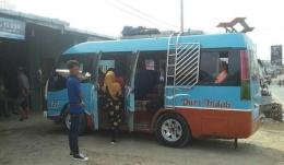 Suasana di sebuah loket bus di Bagan batu.foto: dok pribadi/ps express