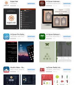 Ragam aplikasi di Apple Store (dokpri)