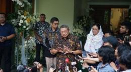 SBY di Cikeas   Gambar: Kompas.com