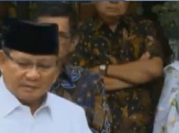 SBY Melipat tangan, tanda marah   Gambar: Tangkapan Youtube