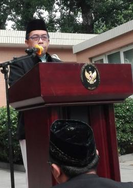 Imam & Khotib oleh Ustadz Taufik. (Dokpri/2019)