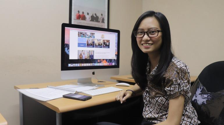 Stefi Landra, Alumni Mahasiswi President University