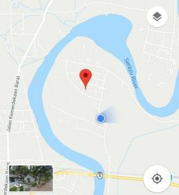 Gambar dokpri, diambli dari layar tangkap google maps