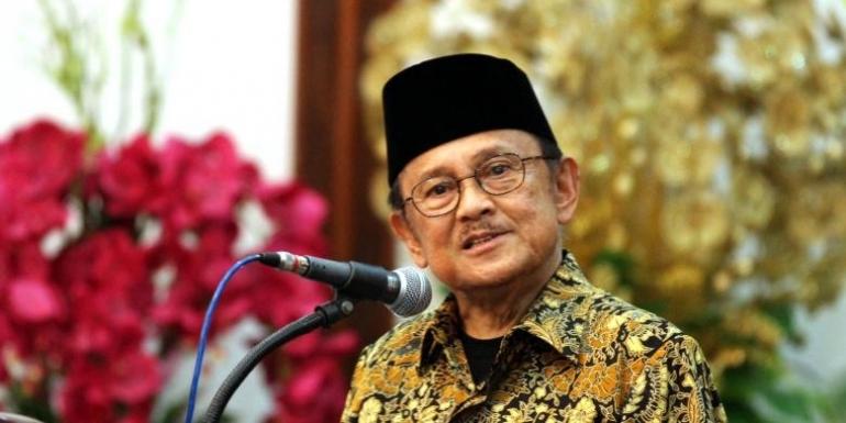 Mantan Presiden BJ Habibie.(KOMPAS.com/Ronny Buol)