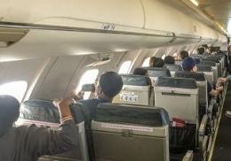 Suasana Pesawat Isinya 'Pendaki' Pemalas Tidak Mau Susah Tapi Pingin Melihat Puncak Gunung Tertinggi Dunia/dokpri