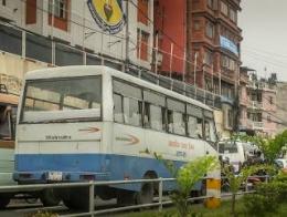 Bus Merk Mahindra Karoseri India Tehnologinya Sangat Kadaluarsa (dok. pribadi)
