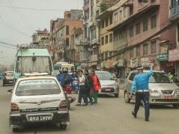 Tidak Ada Lampu Pengatur Lalu Lintas Di Kota Kathmandu (dok. pribadi)