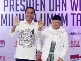 Duet Jokowi-Ma'ruf Amin, sumber : tribunnews.com