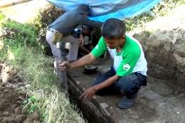 Proses Eskavasi Patirtan oleh Disparporabud Nganjuk