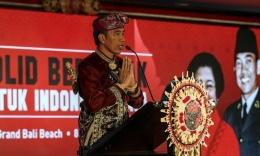 Jokowi di Kongres V PDIP [Foto: Liputan6.com/Johan Tallo]