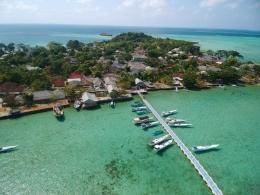 Suasana Pulau Gili dari ketinggian