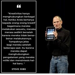 kutipan dari Steve Jobs (dokumentasi Himam Miladi)