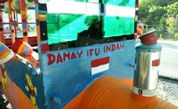 Pesan damai dari Odong-odong (dok. pri).