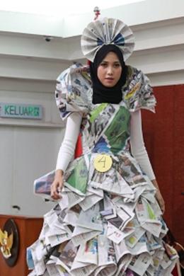 Lucky Sakilla peserta juara 3 Unique Fashion. (Dok. Pribadi)