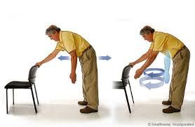 Deskripsi : contoh gerakan pendulum exercise I Sumber Foto : fisioterapi