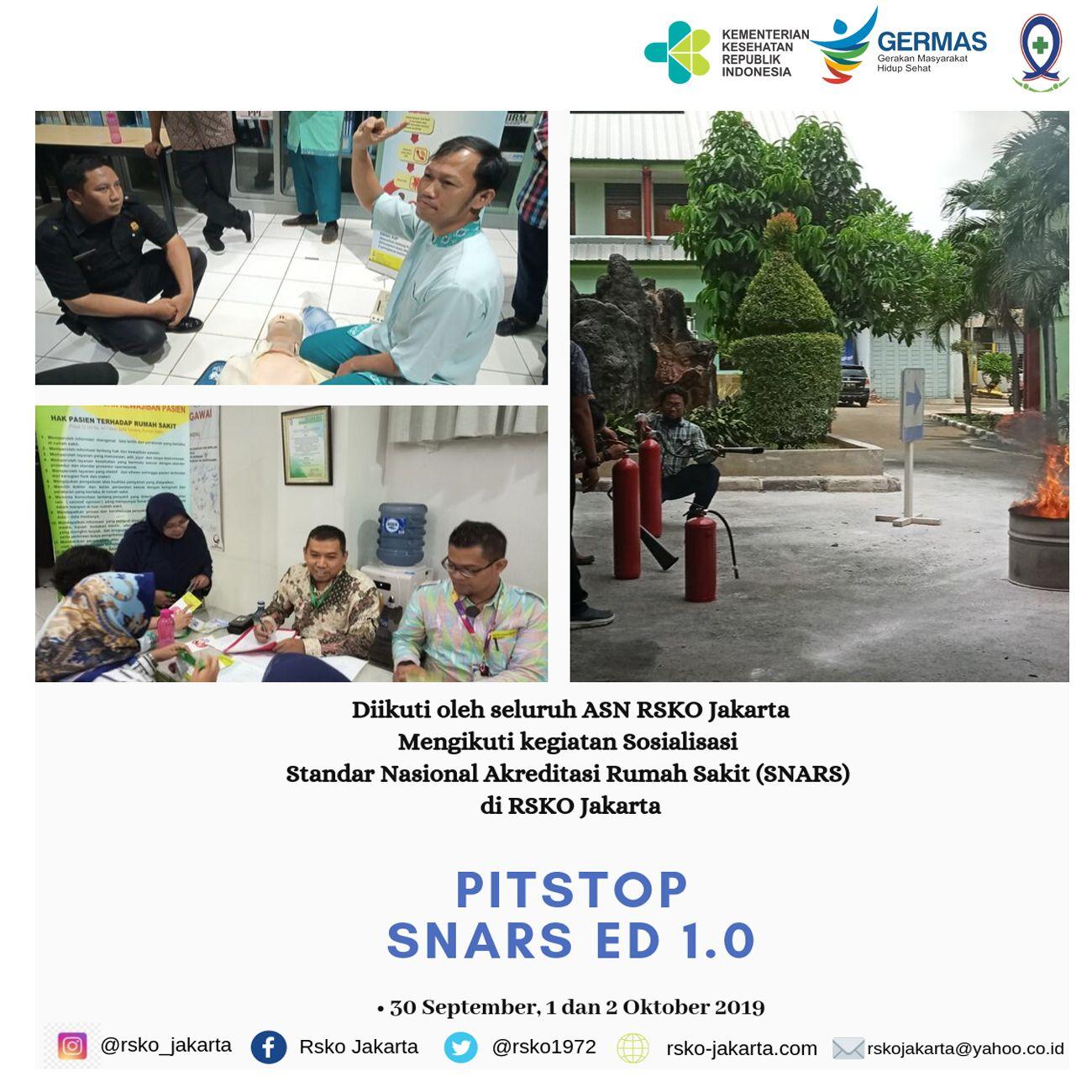 Deskripsi : Pitstop SNARS di RSKO Jakarta I Sumber Foto : dokpri