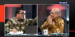 penampakan debat Emil Salim dan Arteria Dahlan(rmolbanten.com)