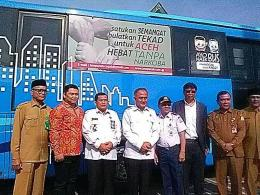 Dok. pribadi: Foto Bersama Kepala BNN Pusat Komjen Pol Drs Heru Winarko SH , Kepala BNNP Aceh Brigjen Pol Drs H Faisal Abdul Naser MH, beserta tamu VIP lainnya