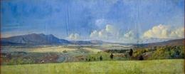 """""""Zicht op de hoogvlakte van Garoet"""" karya Leonardus Joseph 'Leo' Eland (naratasgaroet.net)"""