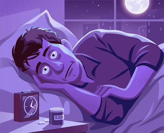 ilustrasi orang yang tidak bisa istirahat di tengah malam. | sumber: pikdo.net/brianschaffnit