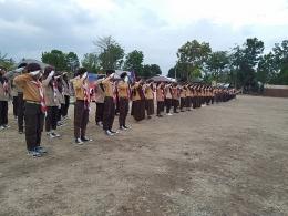 Para peserta kemah mengikuti lomba LKBB   dokpri