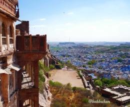 Blue City terlihat dari Mehrangarh Fort | dokpri