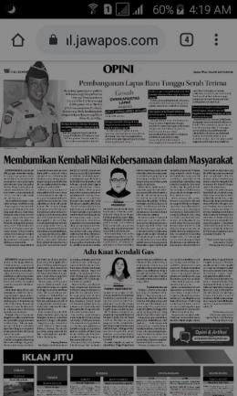 Tangkapan layar koran Radar Banyuwangi. (Fareh Hariyanto/kompasiana.com)