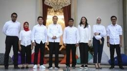 Perkenalan staf khusus Presiden RI Joko Widodo. (Foto: ANTARA FOTO/Wahyu Putro A)