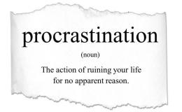 Definisi prokrastinasi (picdeer.com)