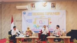Para narasumber forum diskusi Trending Topic P4GN Optimalisasi Rumah Edukasi Anti Narkoba (REAN.ID)