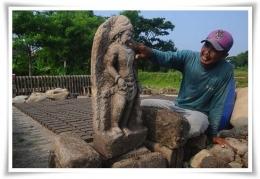 Arca kuno ditemukan warga Boyolali pada 2016 (Foto: republika.co.id)