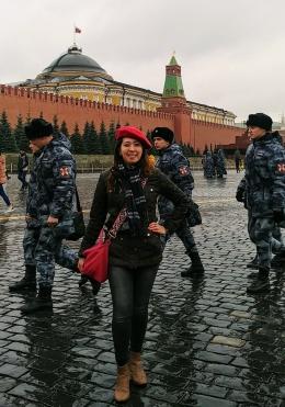 Penulis di Red Square. Sumber: Dokumentasi Pribadi