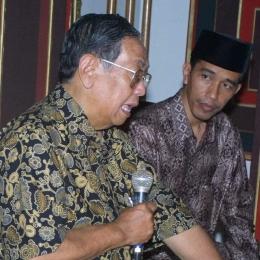 Abdurrahman Wahid dan Jokowi. (@jokowi_btp_lovers/instagram)