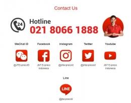 Hotline & Media Sosial J&T express (screenshoot jet.co.id)